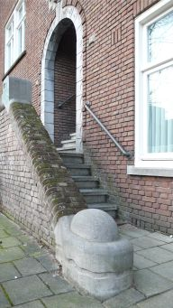 Rounded corner-stone, Amsterdam ©HH