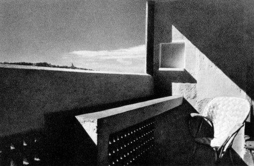 Balcony, L'Unité d'Habitation, Le Corbusier, Marseilles.