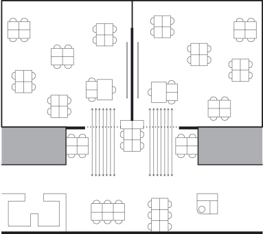 Scheme classroom and threshold zone.
