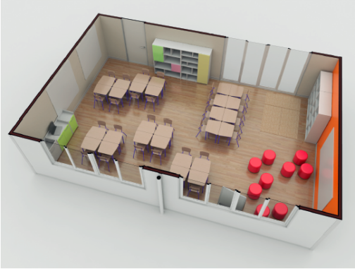 Render Elementary Classroom