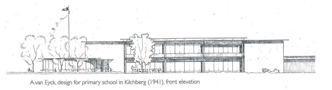 Aldo van Eyck Kilchberg school front elevation