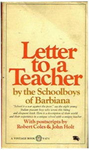 Book Letter to a Teacher School of Barbiana