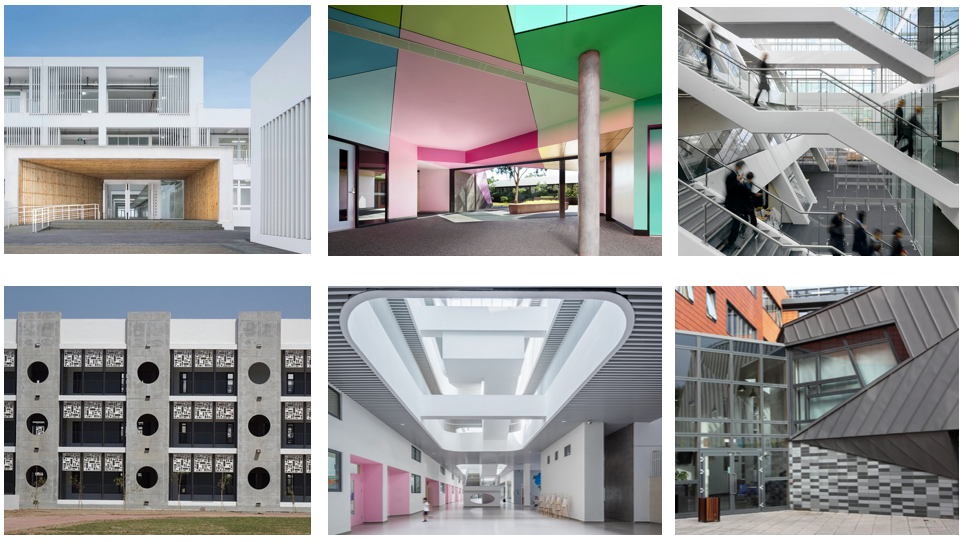 A Composite Image Of 6 Different Schools.